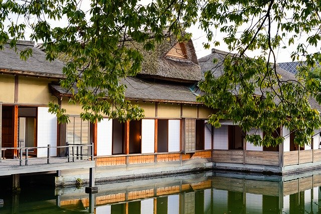 福井 日本の屋敷