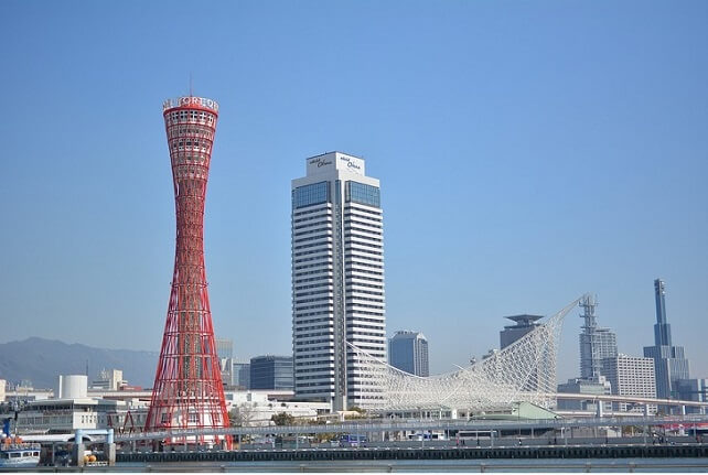 即日発行カード神戸港の景観