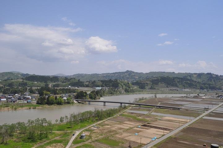 新潟県魚沼市田畑風景