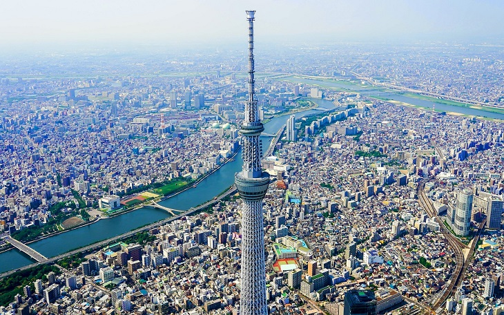 東京スカイツリー航空写真