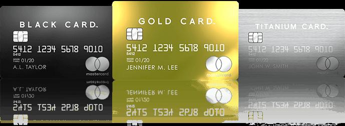 ラグジュアリーカード3種類ブラック・チタン・ゴールド