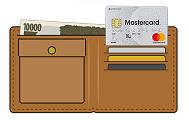 財布に見えるアコムのクレジットカード