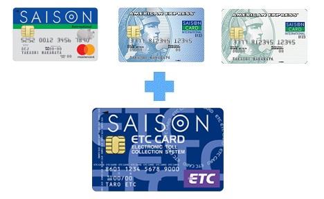 セゾンカード3種とETCカード