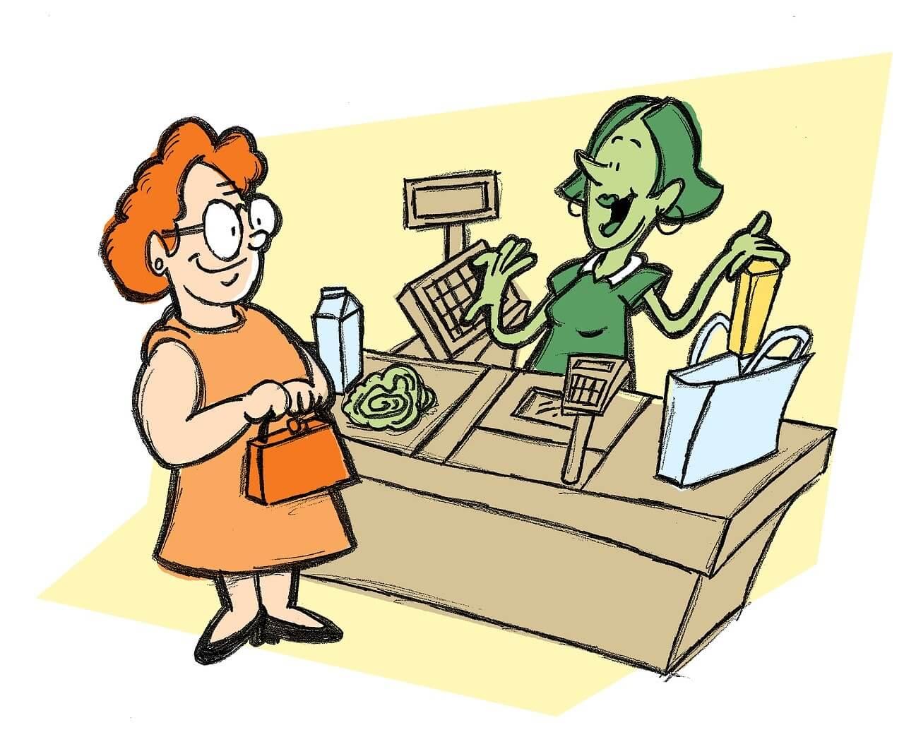 おしゃべりなレジ係(非接触型クレジットカード決済)